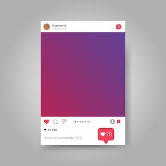 Instagram photo frame inspired