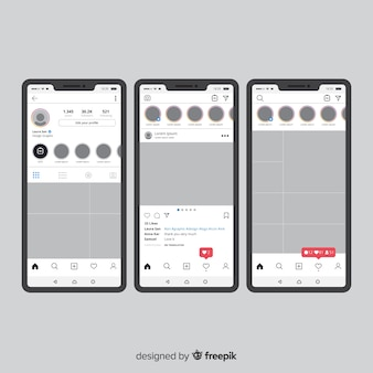 Instagram photo frame template