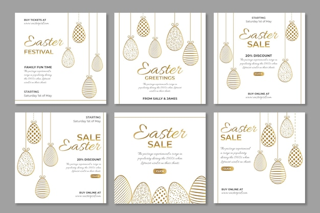 Instagram post collection for easter sale