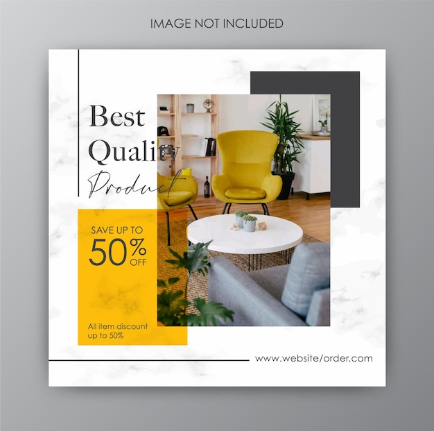 Instagram post collection for furniture design