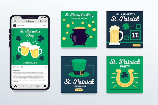 Instagram post collection for st. patricks day