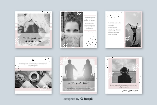 Instagram post collection template