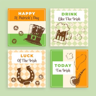 Instagram post collection theme with st. patricks day