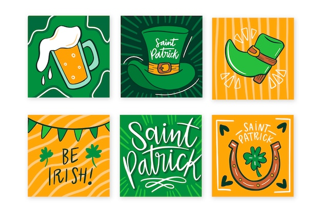 Instagram post collection with st. patricks day event