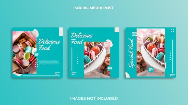 Instagramポストデザインフード