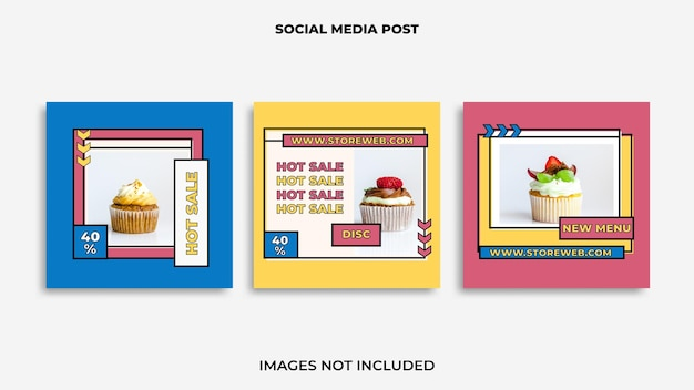 Instagram post design food