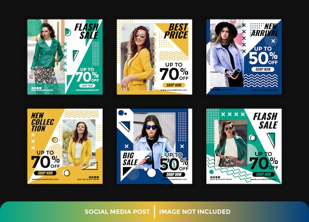 Instagram post fashion style template