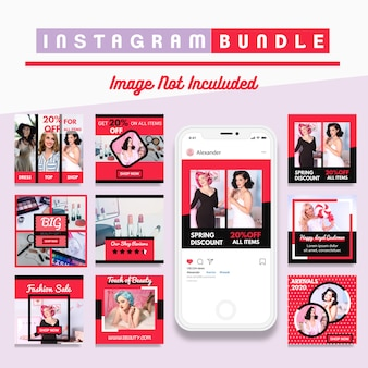 Современный instagram post fashion template