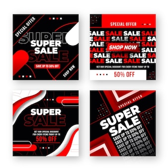 Instagram post mega super sale collection