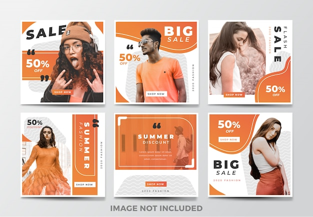 Instagram post or square banner. fashion theme
