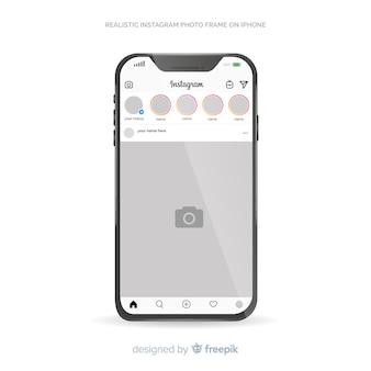 Шаблон поста в instagram на iphone
