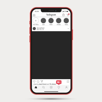 Instagram post template ui ux app