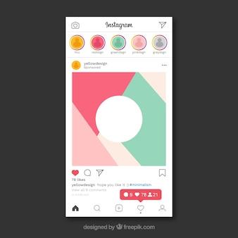 通知付きinstagram投稿テンプレート