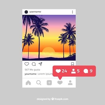 알림이있는 instagram 게시물 템플릿