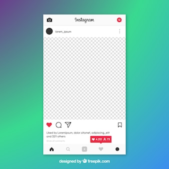 Instagram post template with notifications