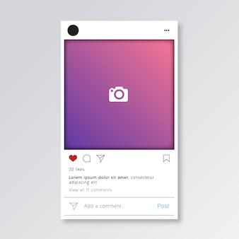 Instagram 게시물 템플릿