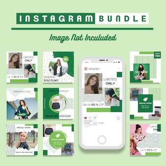Творческий шаблон рассылки instagram post template