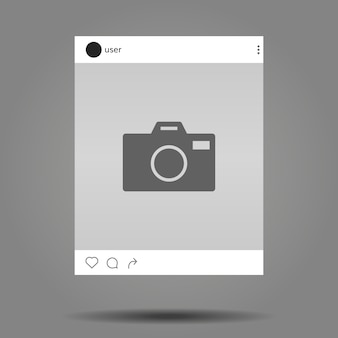 Instagram post template