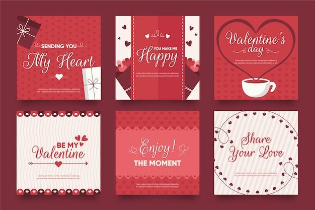 Instagram post valentine's day set