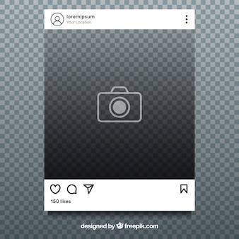 Instagram post with transparent background