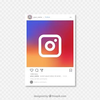 투명한 배경의 instagram 게시물