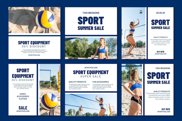 Instagram posts collection for beach volleyball