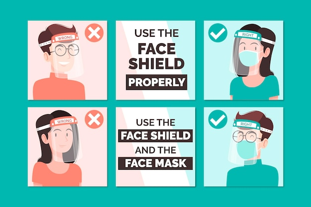Instagram posts collection for face shied usage