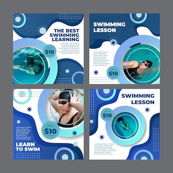 Instagram posts collection for swimming lessons