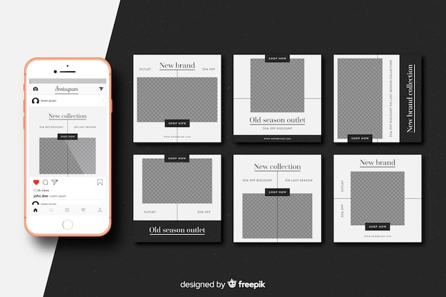 Instagram posts pack template