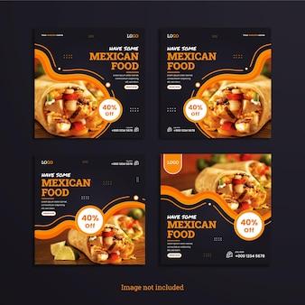 Instagram 게시물은 mexical food 레스토랑의 컬렉션을 설정합니다.