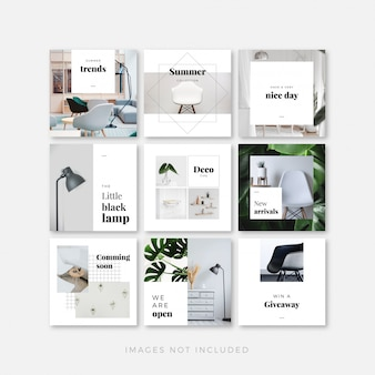 Instagram posts template set