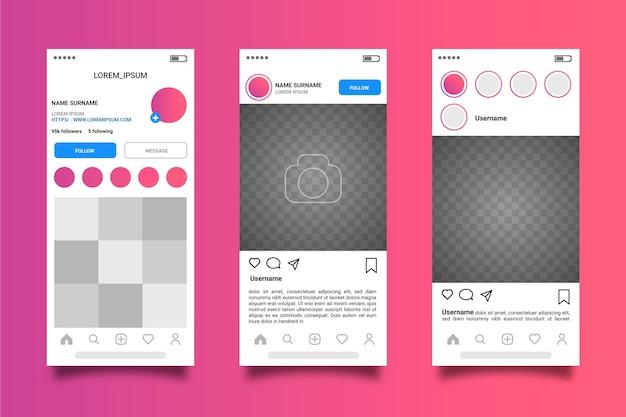Instagram 프로필 인터페이스 템플릿 테마
