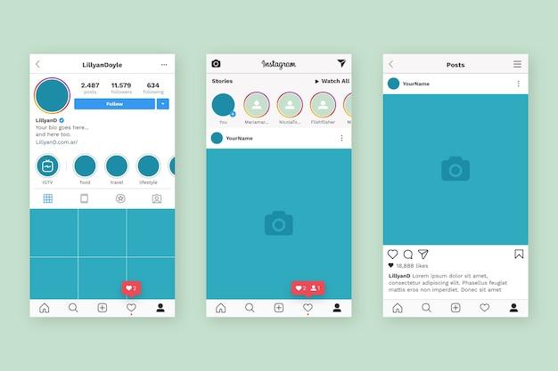 Instagram 프로필 인터페이스 템플릿