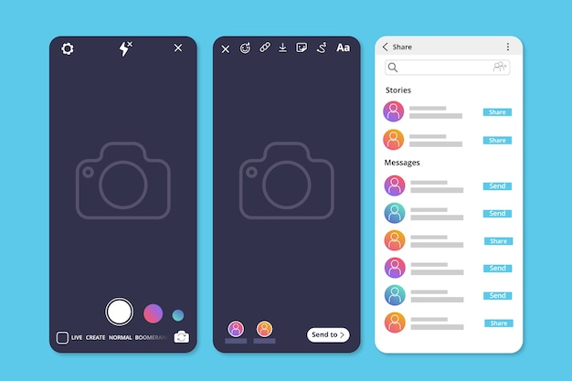 Instagram profile stories template
