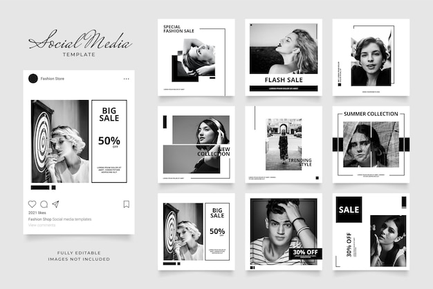 Шаблон рекламного баннера instagram
