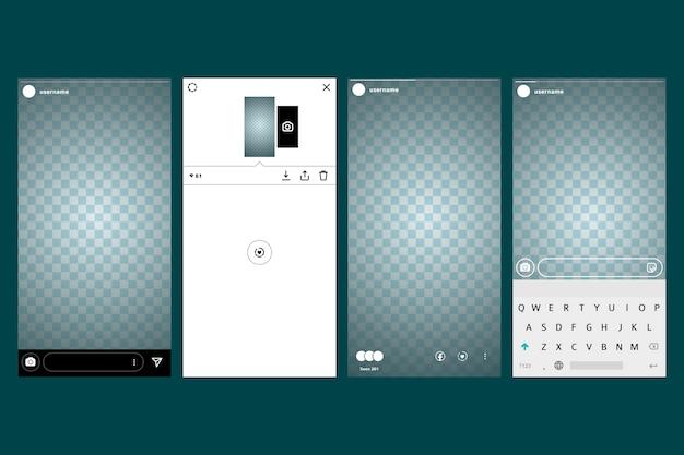 Дизайн шаблона интерфейса instagram pstories