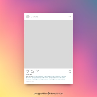 Instagram publication template