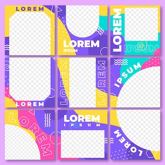 Instagram puzzle feed square template pack