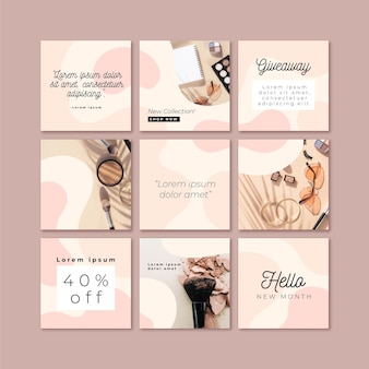 Instagram puzzle feed template