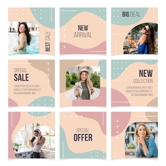 Instagram puzzle feed templates