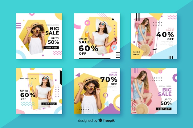 Instagram sale collection template with photo