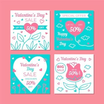 Collezione di vendita di instagram il giorno di san valentino
