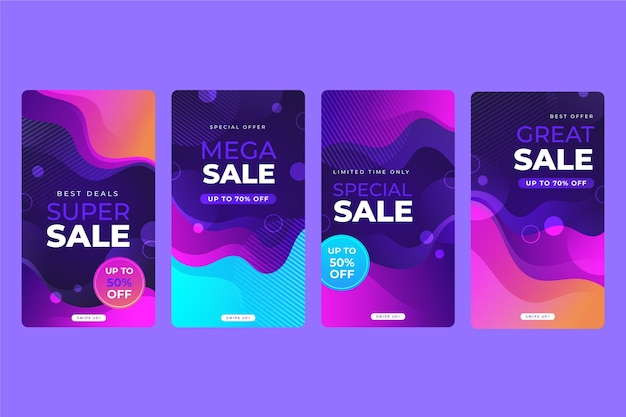 Instagram sale gradient story collection