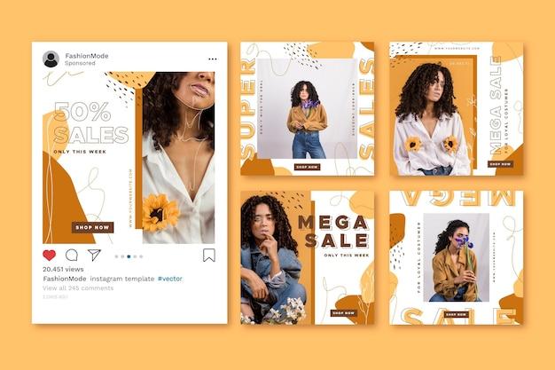 Набор постов для продажи в instagram
