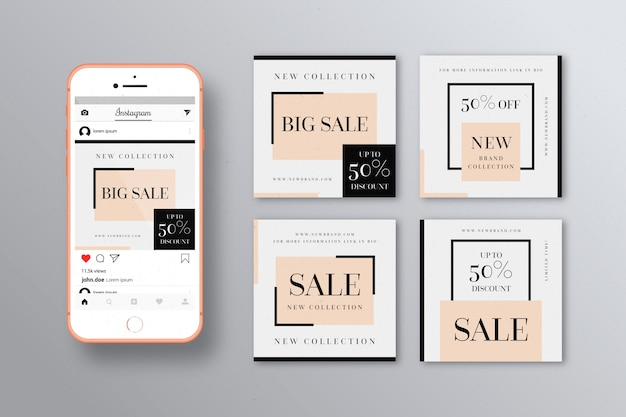 Instagram sale posts collection template