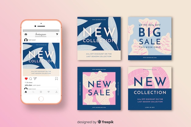 Instagram sale posts pack template