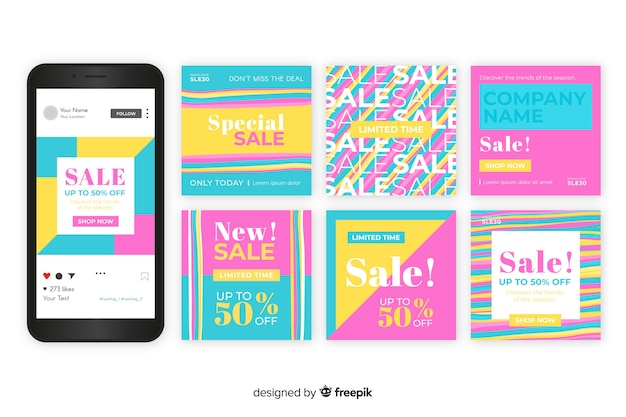 Instagram sales post collection template