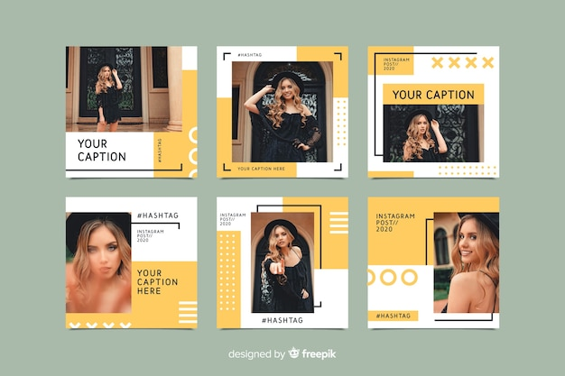 Instagram set of posts template