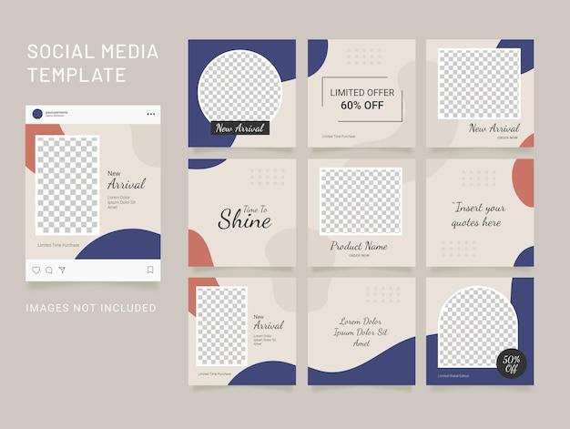 Шаблон ленты пазлов для женщин в социальных сетях instagram