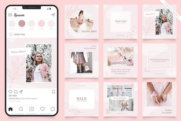 Instagram social media post banner for fashion sale promotion